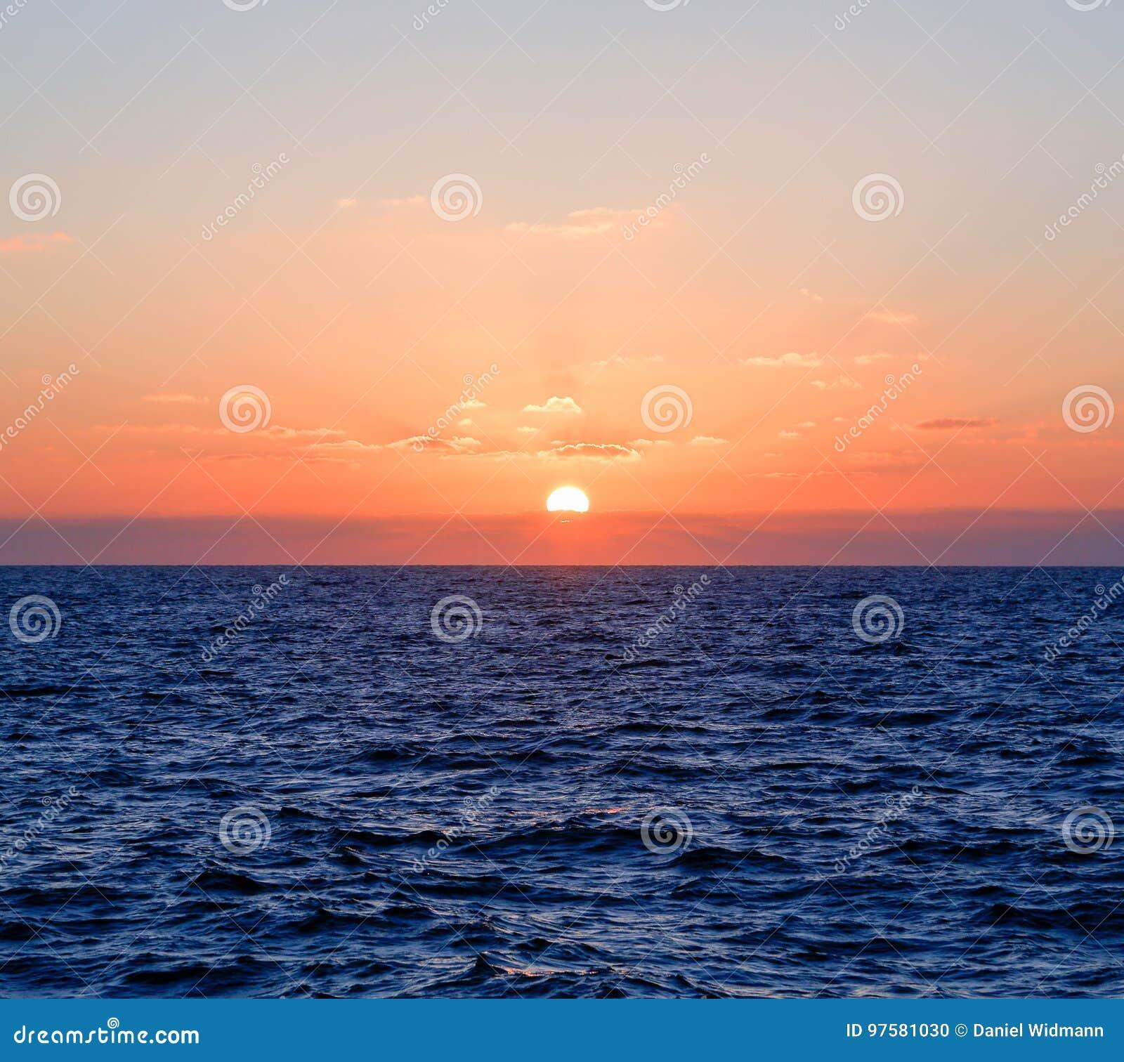 Solnedgång Australien