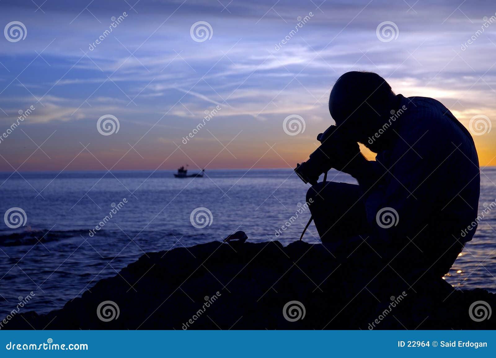 Solnedgång för fotograf ii