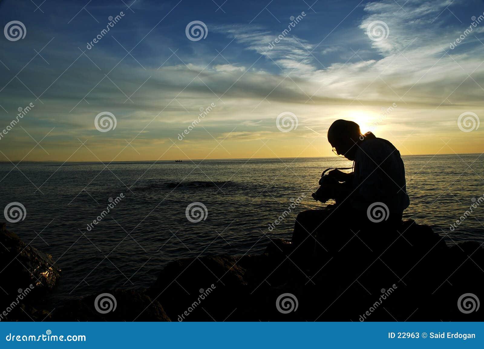 Solnedgång för fotograf iii