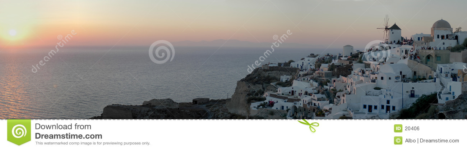 Solnedgång för mp oia för 30 bild