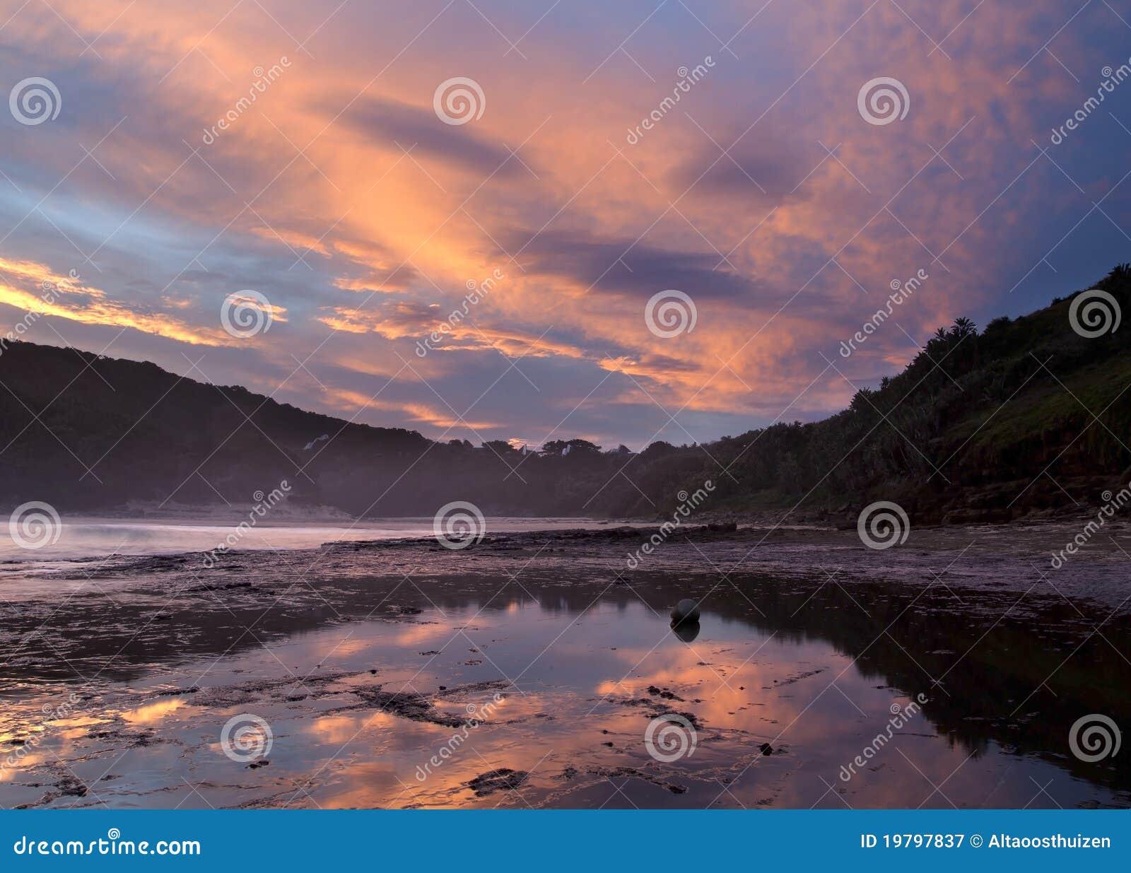 Solnedgång för oklarhetskustreflexion
