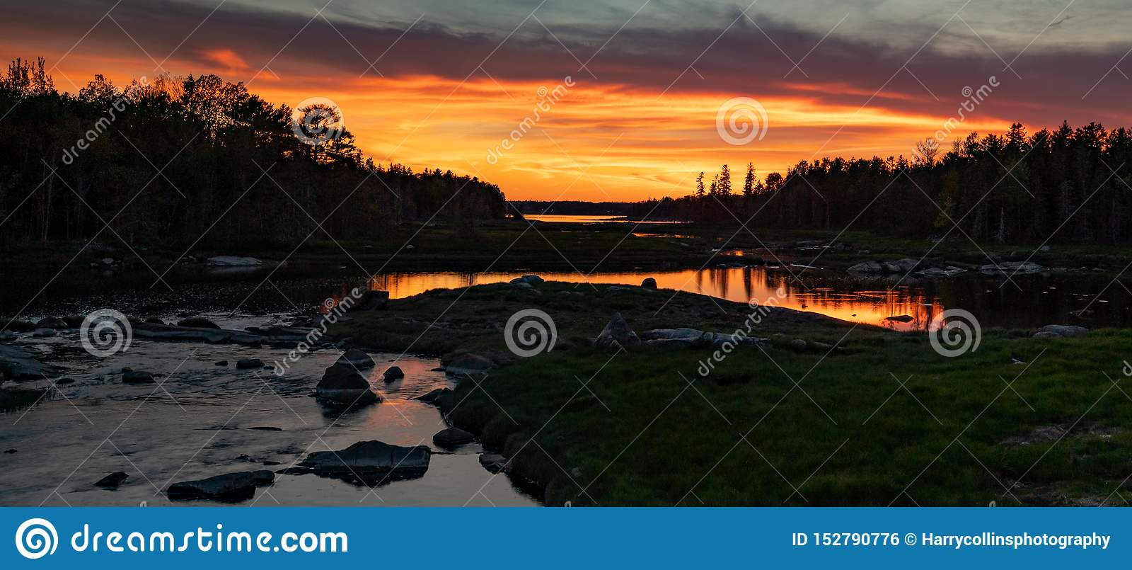 Solnedgång i Acadianationalpark