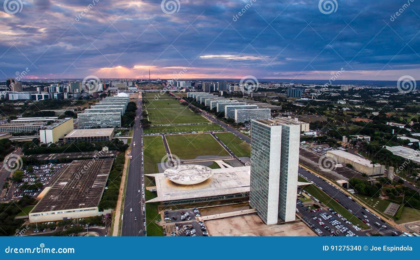 Solnedgång i Brasilia