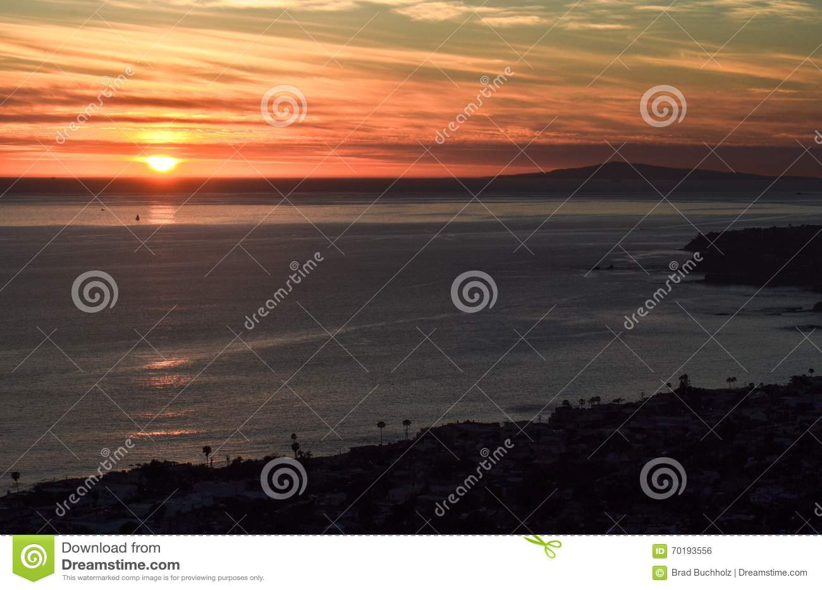 Solnedgång i Laguna Beach