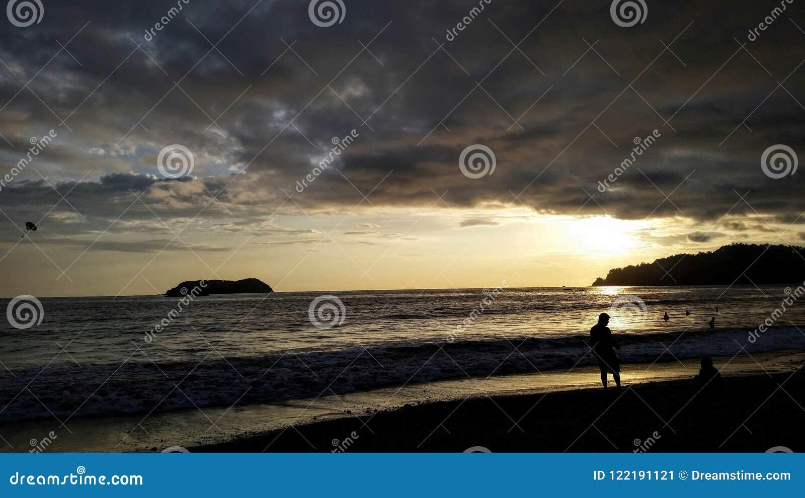 Solnedgång i Manuel Antonio