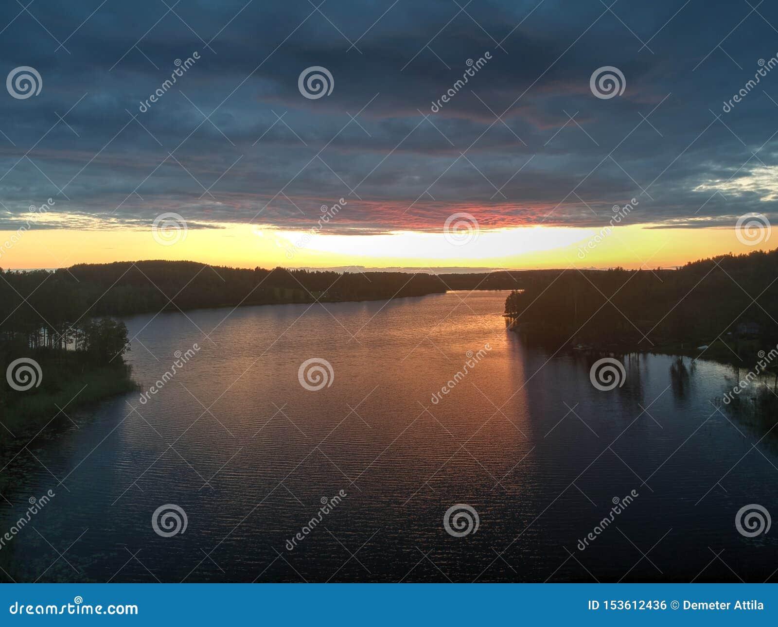 Solnedgång i Nasviken