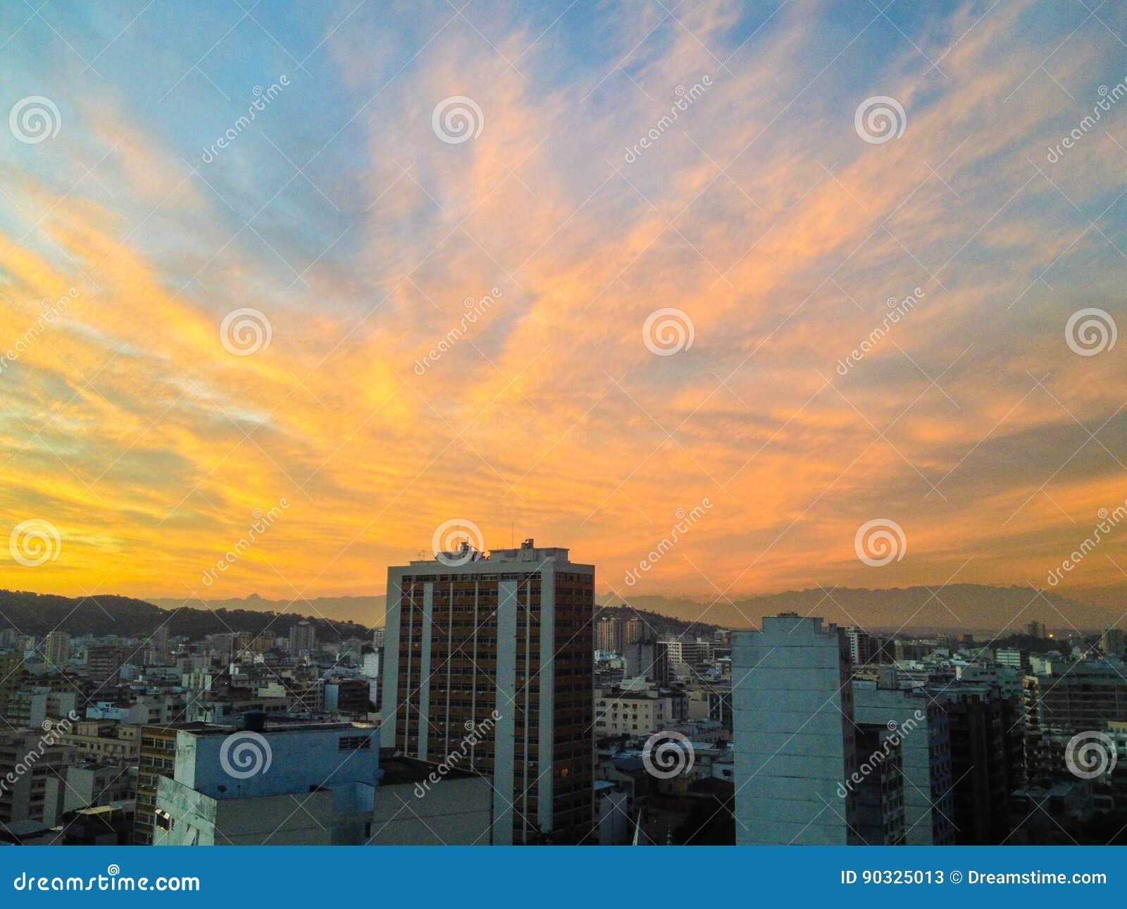 Solnedgång i Rio de Janeiro