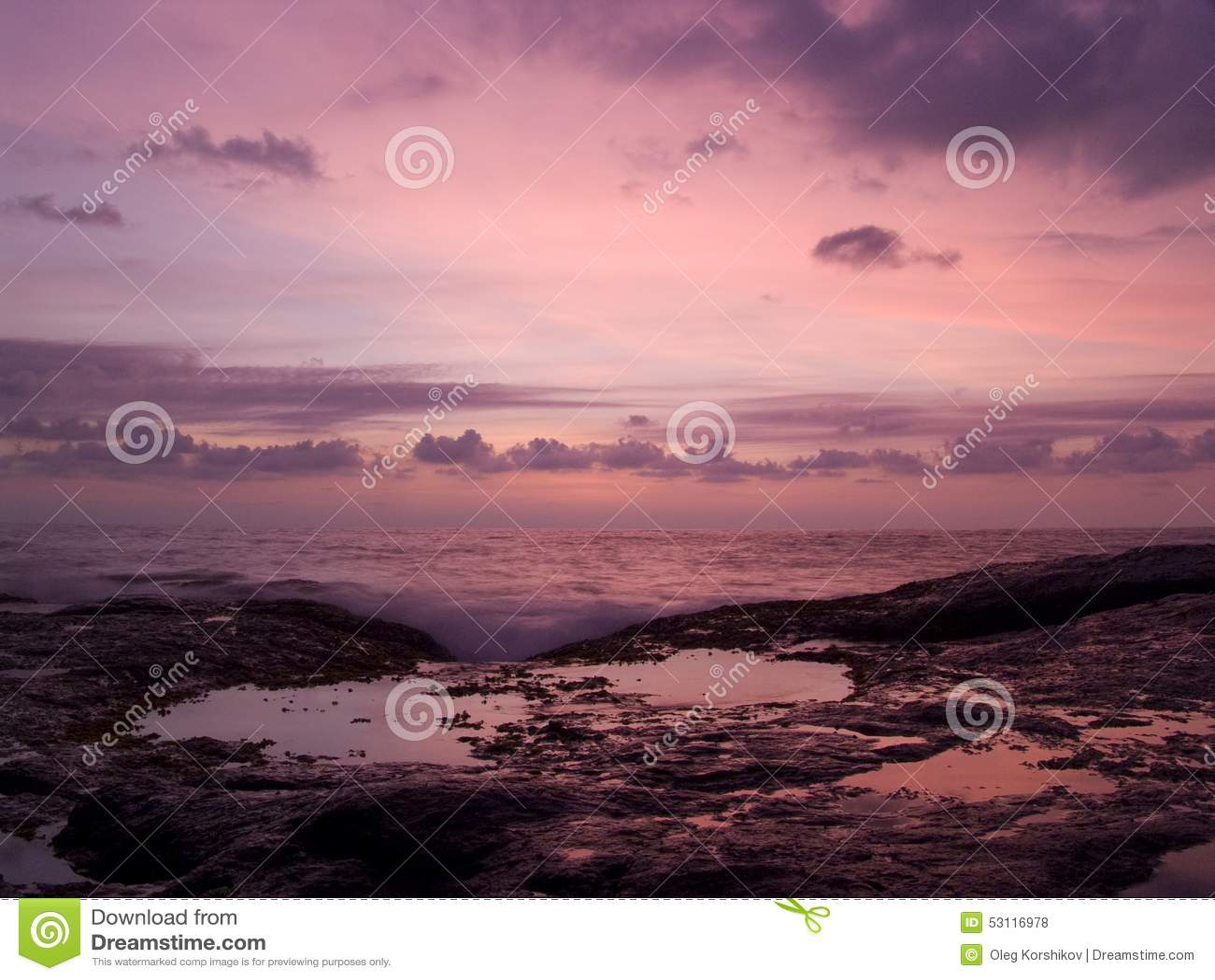 Solnedgång i Sri Lanka