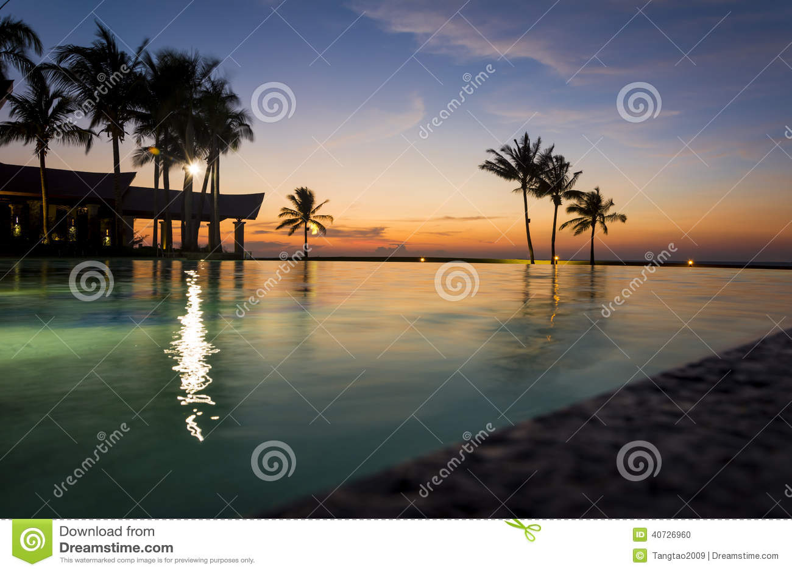 Solnedgång på det imperialistiska hotellet, Brunei