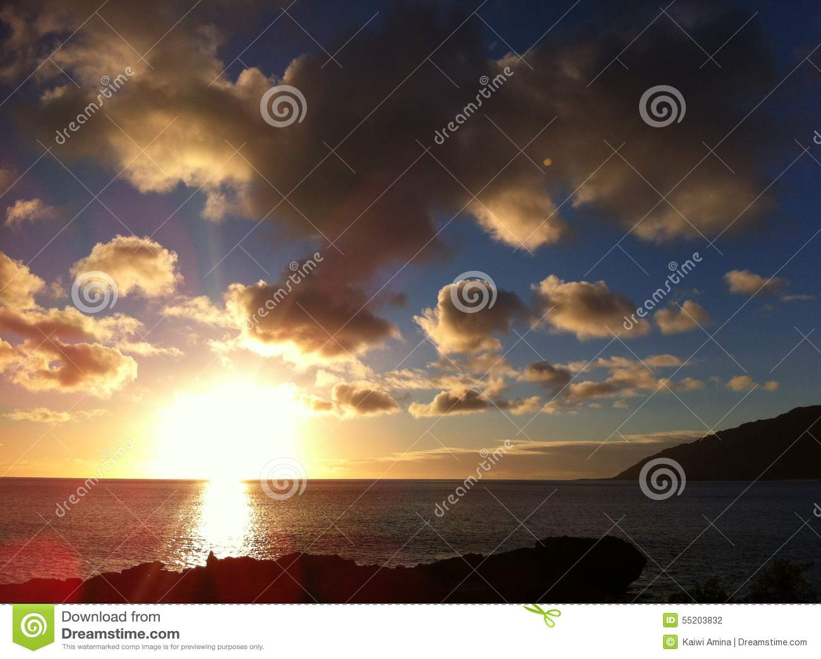 Solnedgång på horisonten