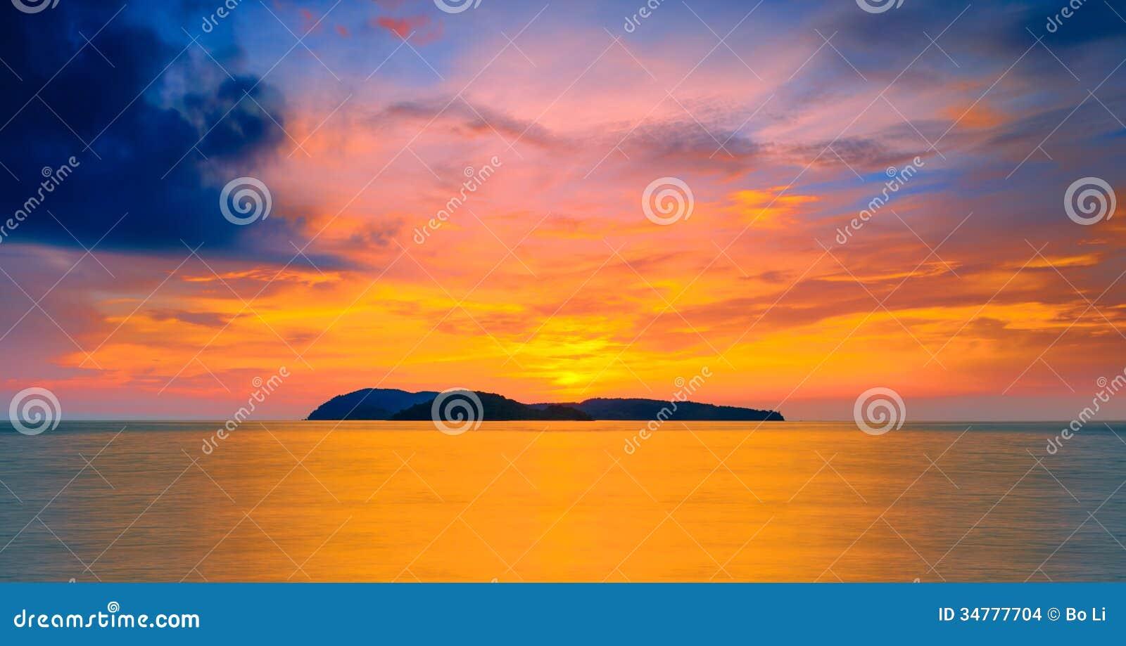 Solnedgång på langkawi