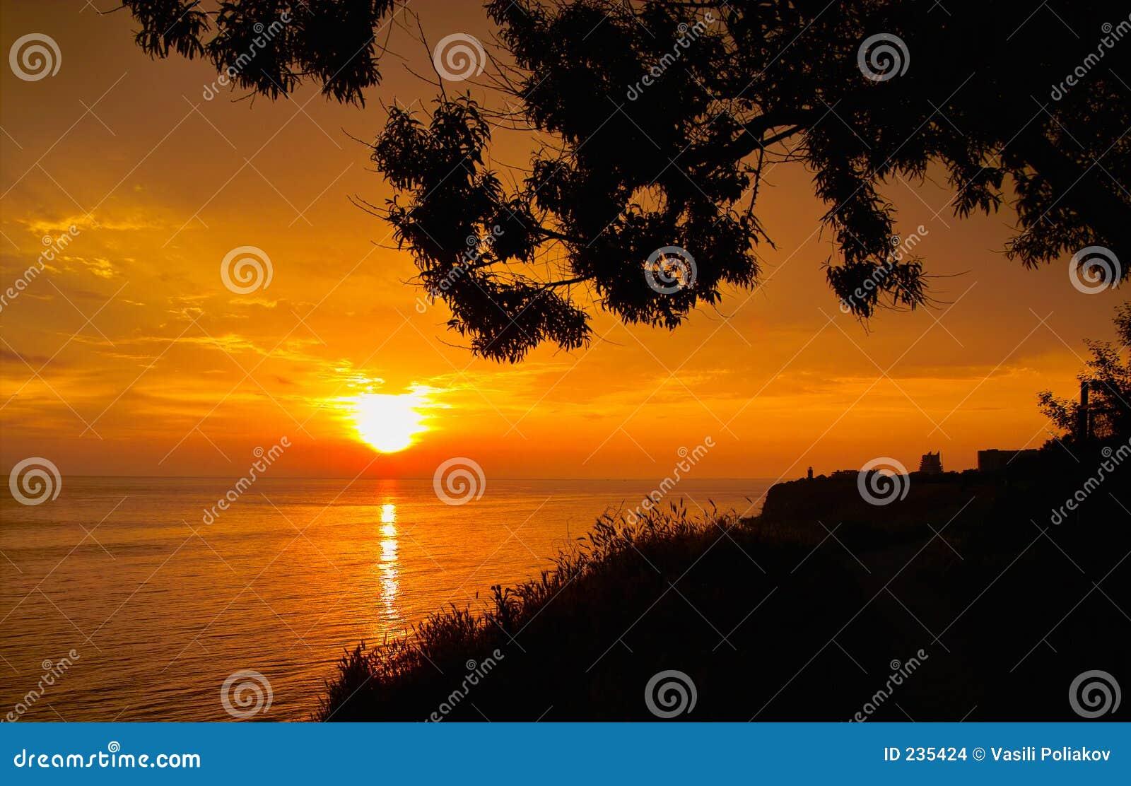 Solnedgång tre
