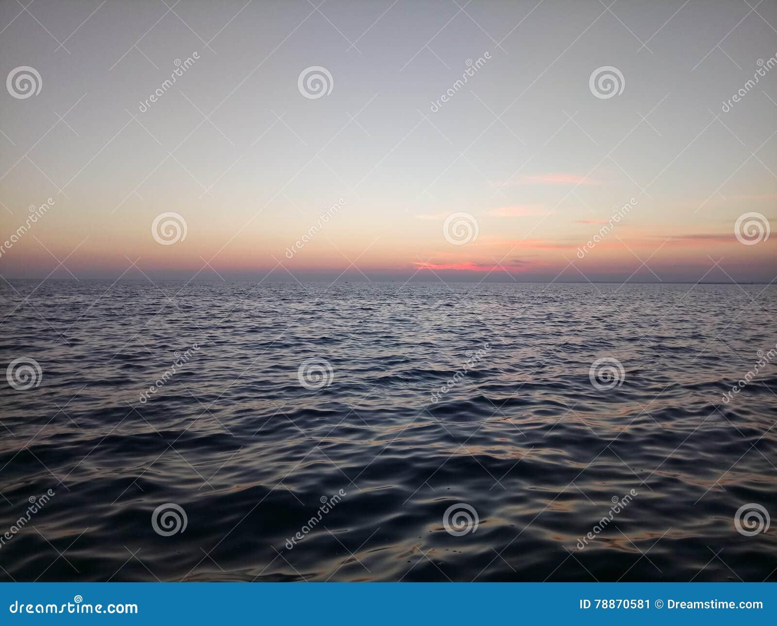 Solnedgång ukraine för hav för crimea exponering lång