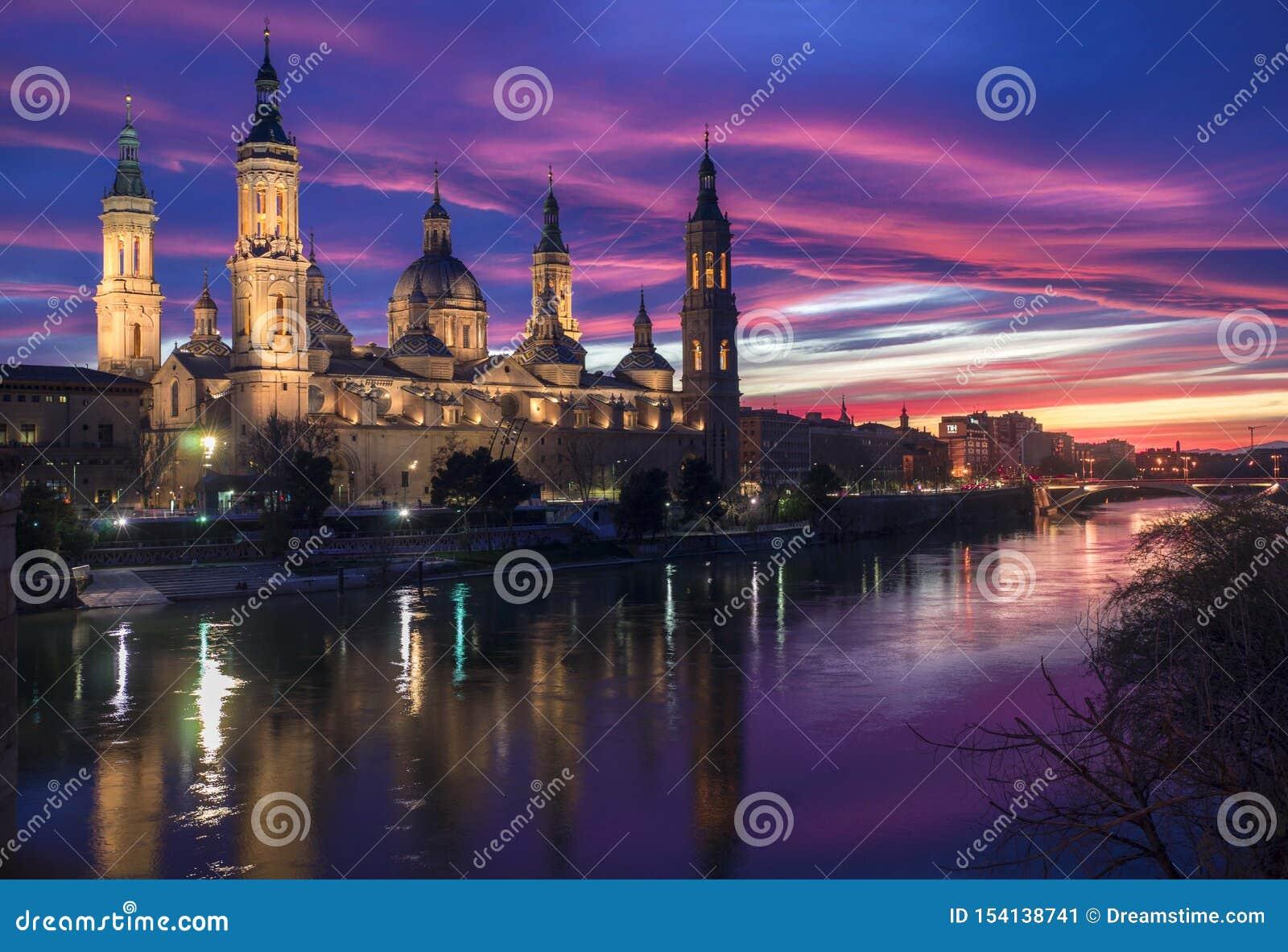 Solnedgång Zaragoza - Atardecer Zaragoza