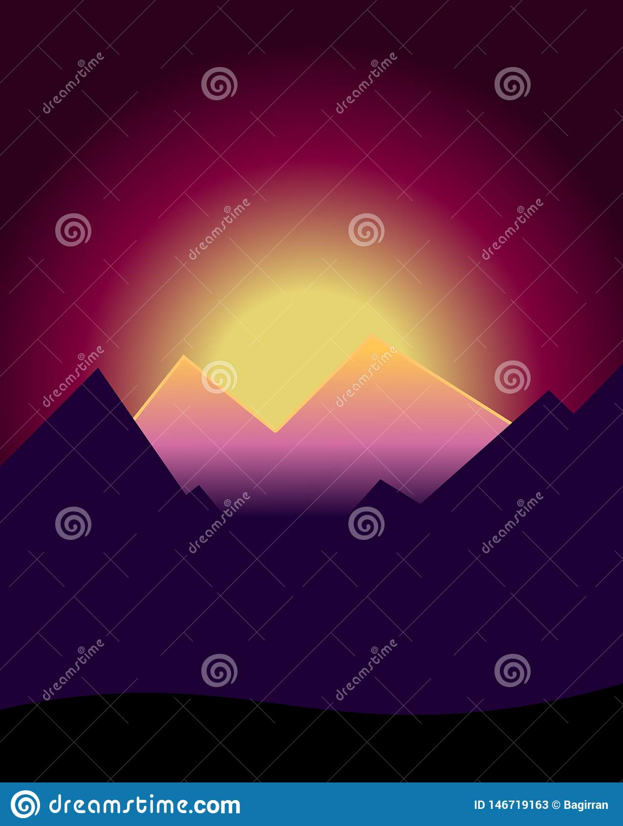 Solnedg?ng i berg