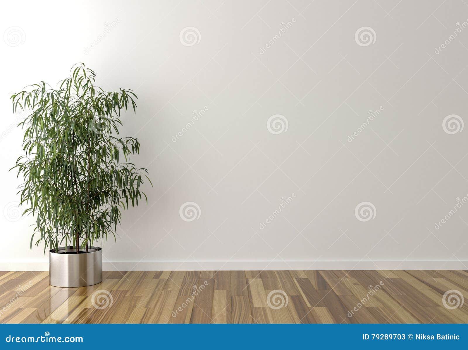Solo binnenlandse installatie en blinde muur op achtergrond