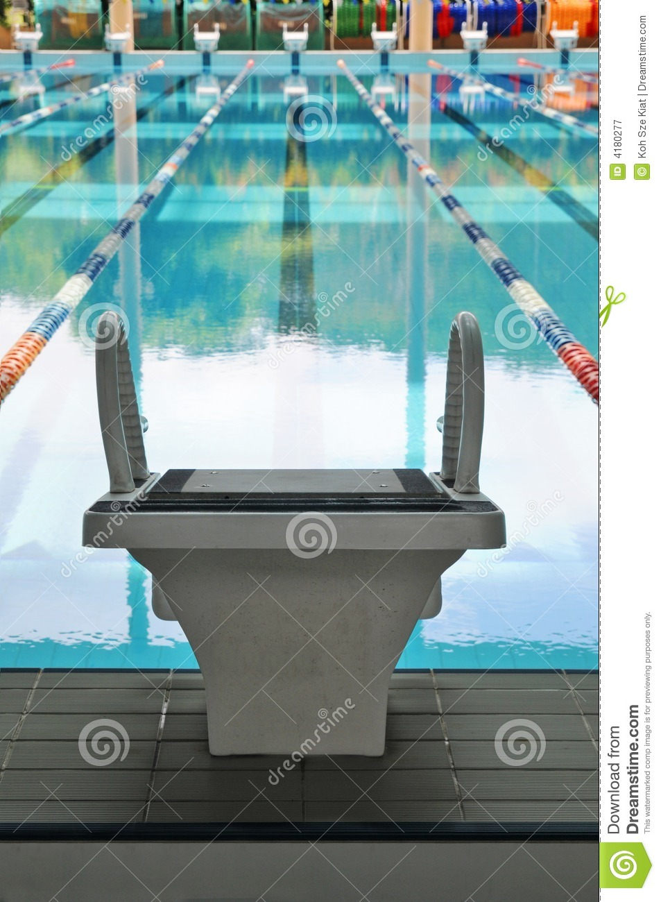 Solo Starting Block Royalty Free Stock Photography Image 4180277