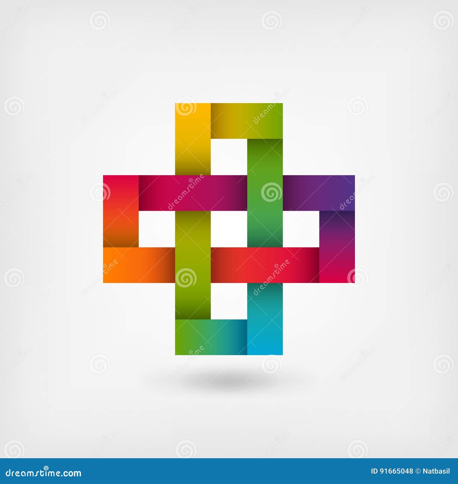 Solomon knot in rainbow colors