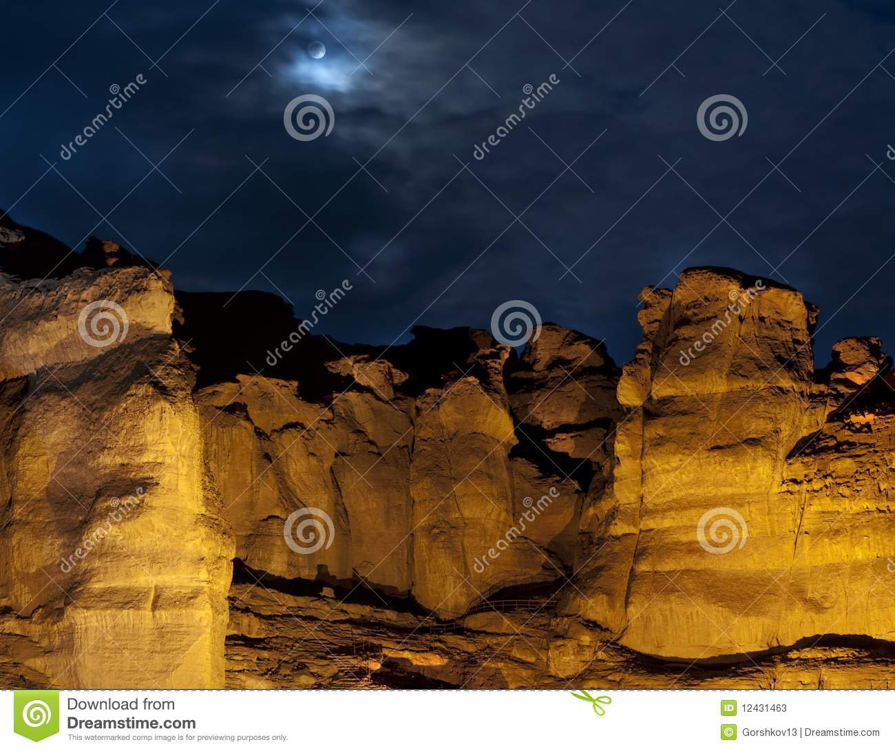Solomon s pillars in Timna Park