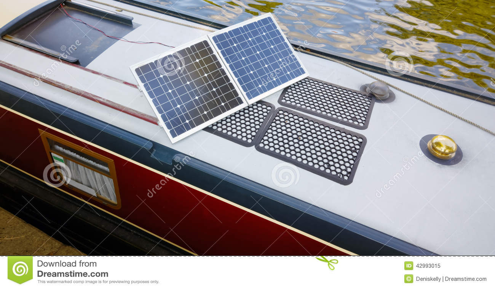 Solpaneler för husfartyg - ren energi