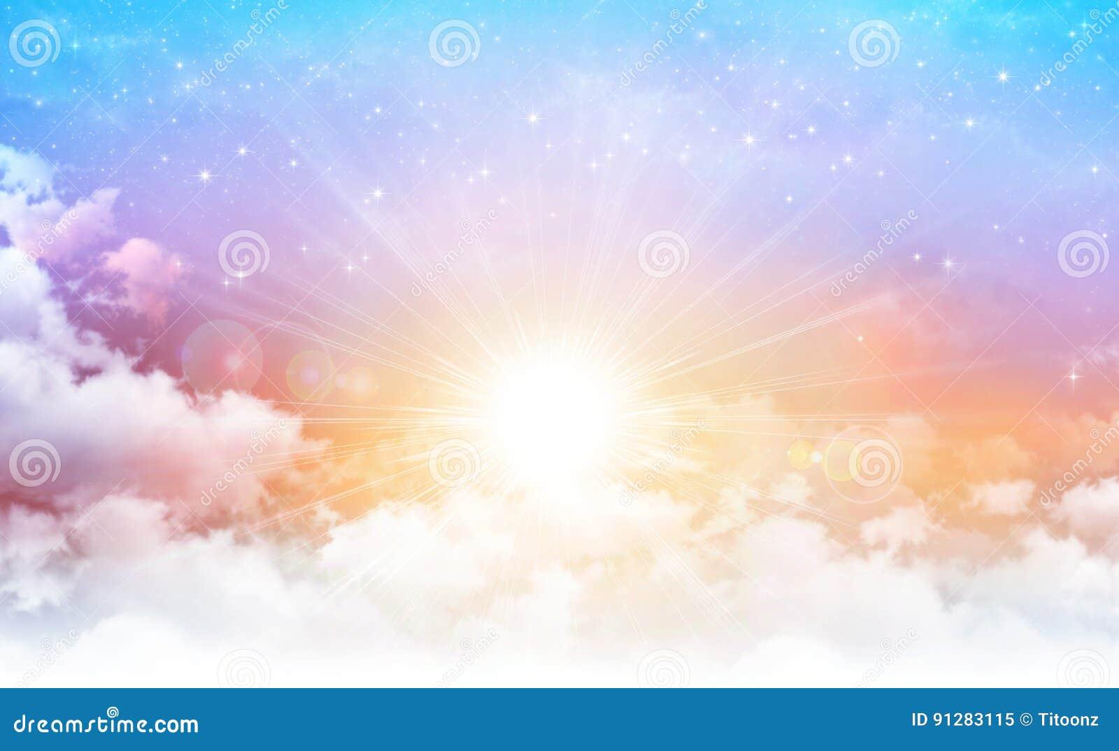 Solsken i en härlig himmel