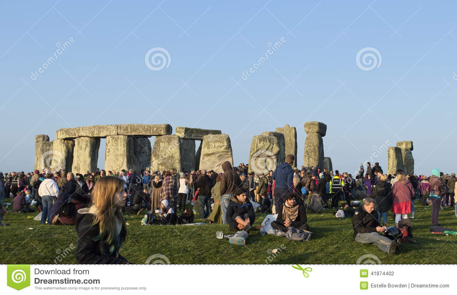 Solstice ranek przy Stonehenge