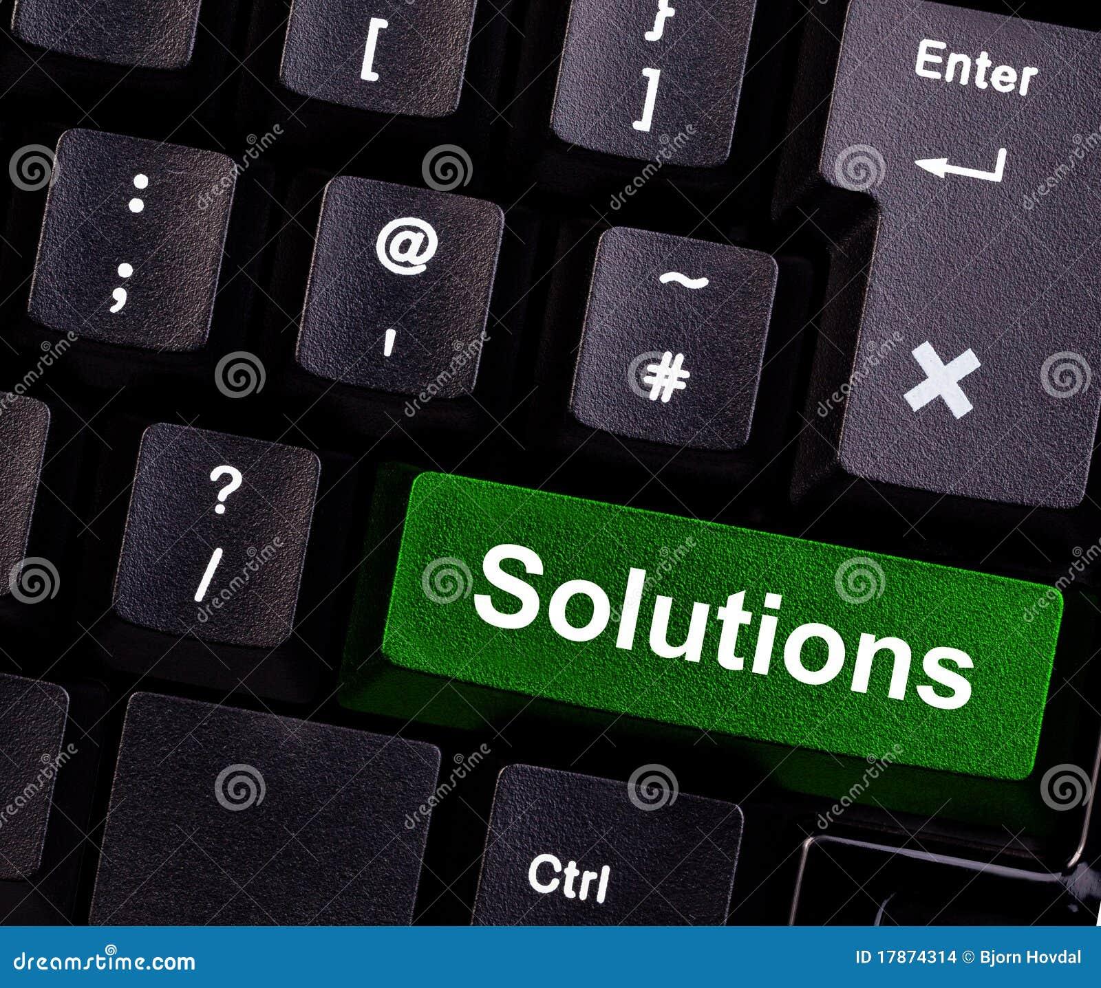 Soluções no teclado
