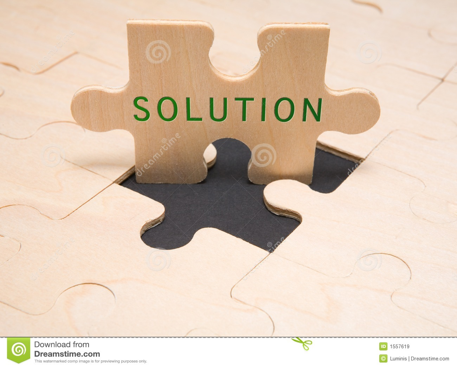Solución - metáfora del asunto