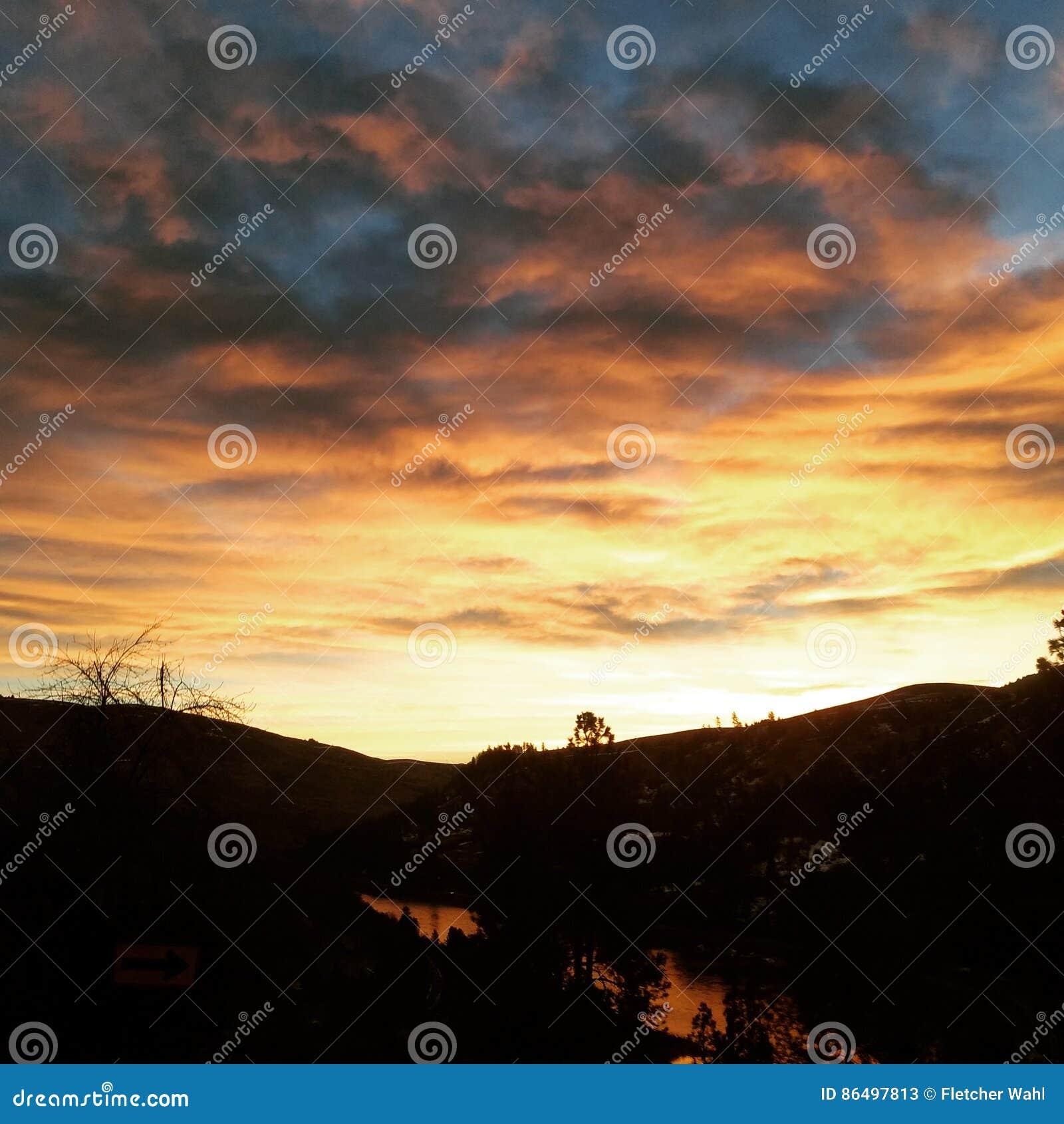 Soluppgång över Clearwateren
