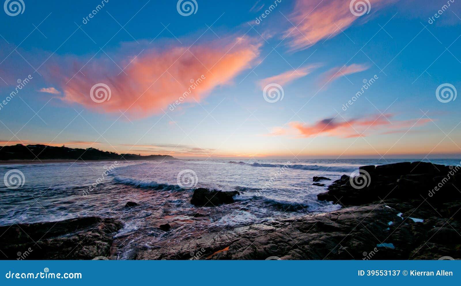 Soluppgång över havet, Sydafrika