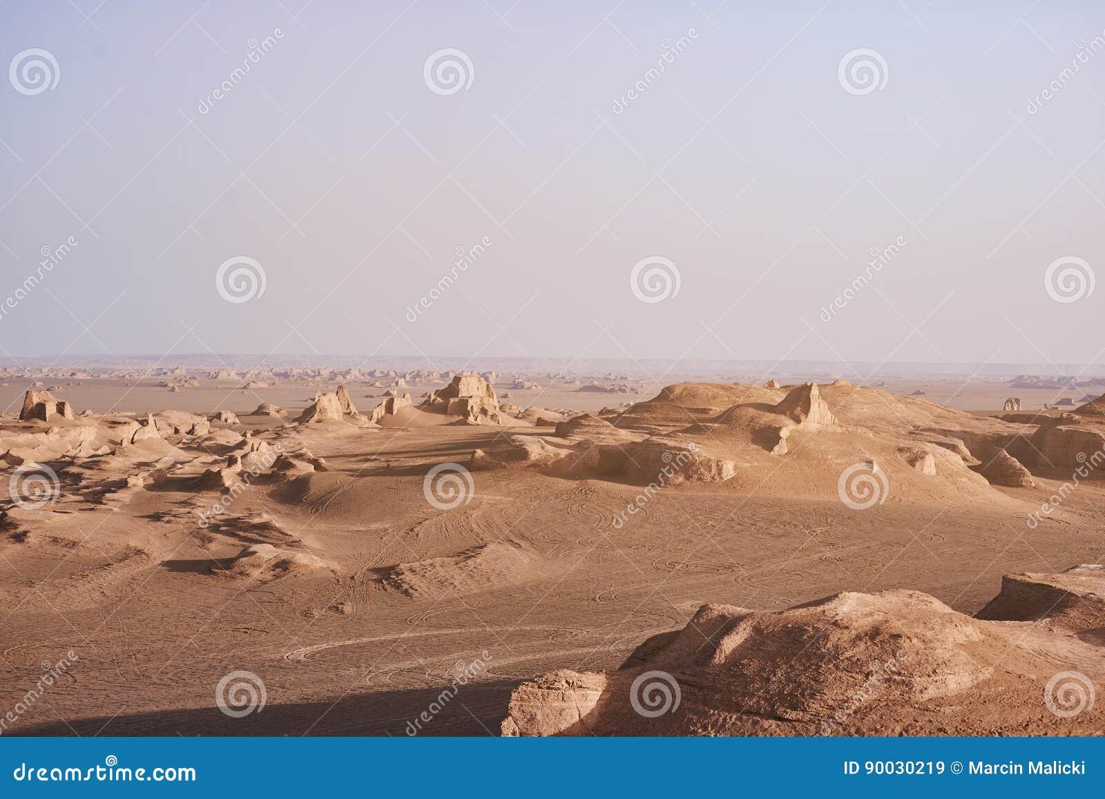 Soluppgång i Lut Desert