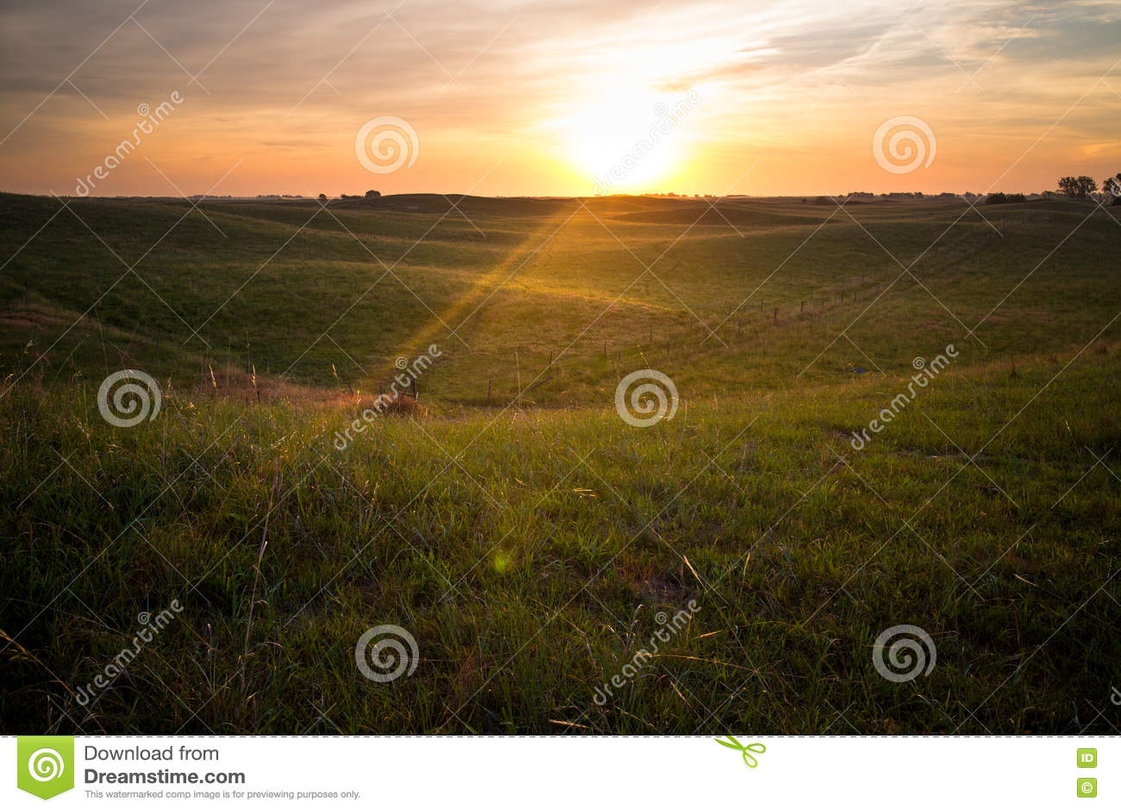Soluppgång i Nebraska Sandhills