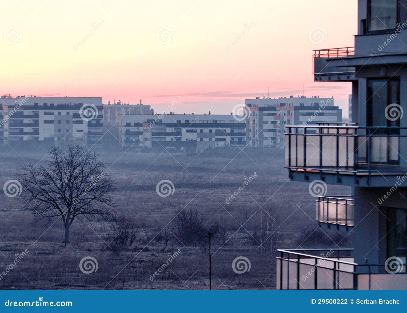 Soluppgång i Pipera, Bucharest