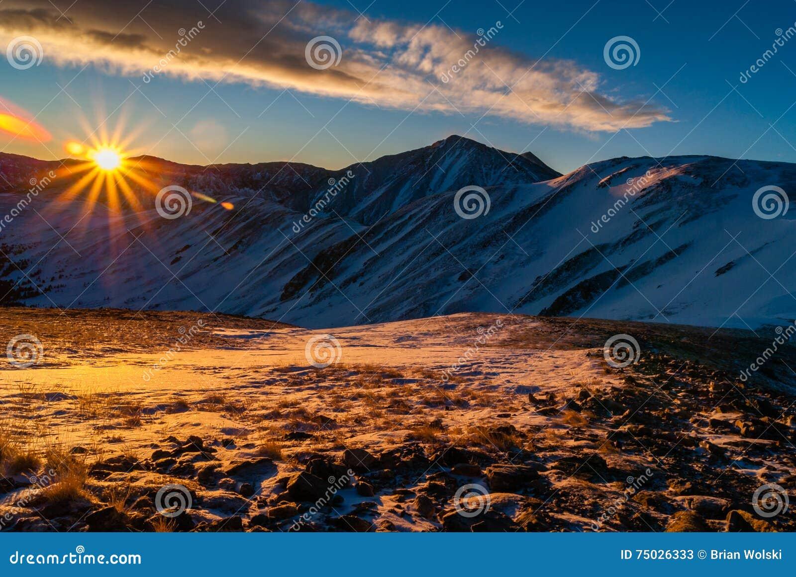 Soluppgång ovanför det Loveland passerandet