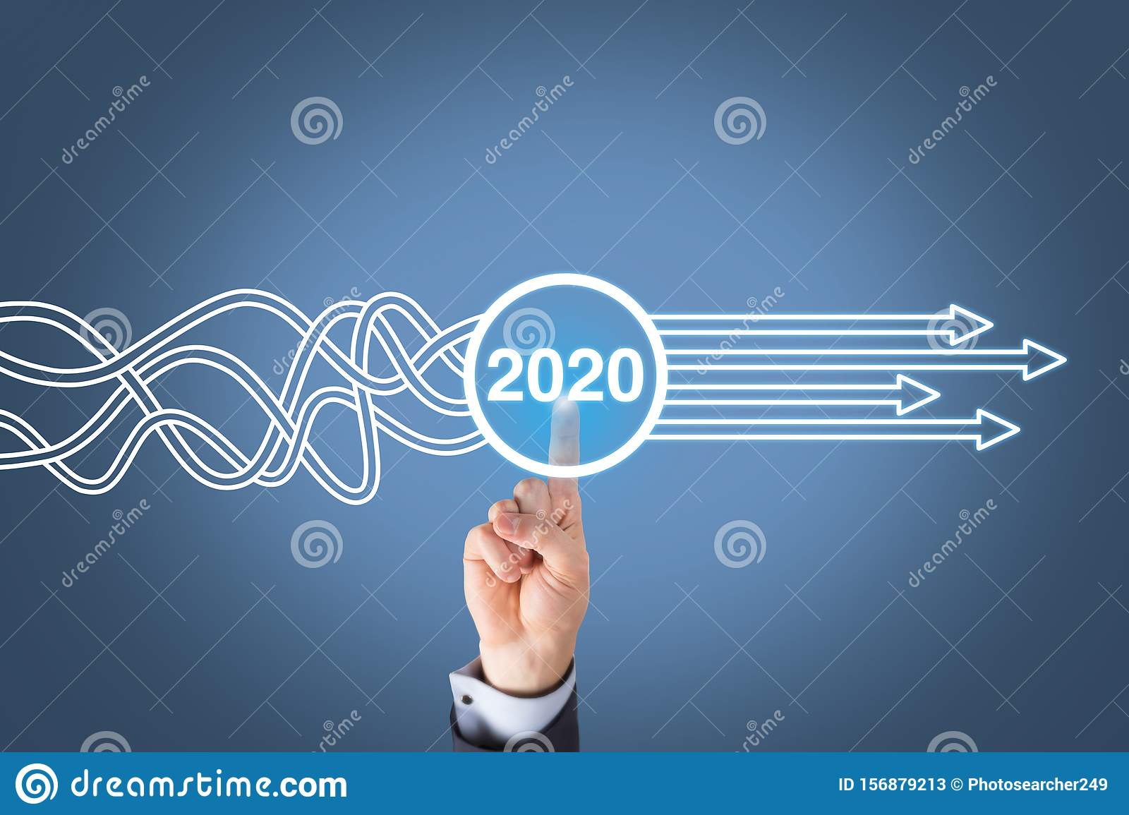 Solution Concepts New Year 2020 on Visual Screen