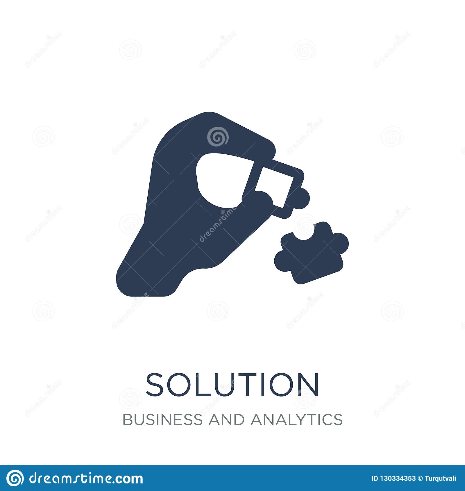 Solution Icon. Trendy Flat Vector Solution Icon On White ...