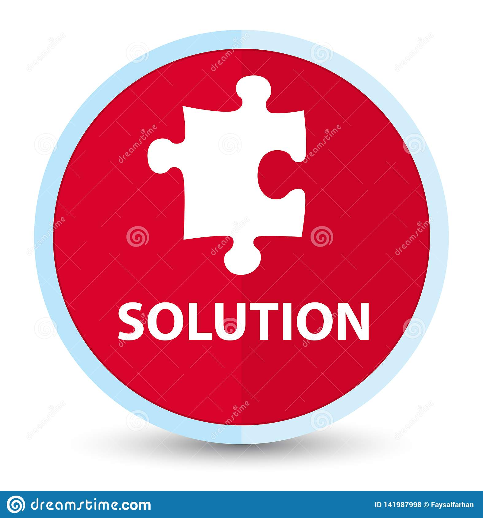 Solution (puzzle Icon) Flat Prime Red Round Button Stock ...