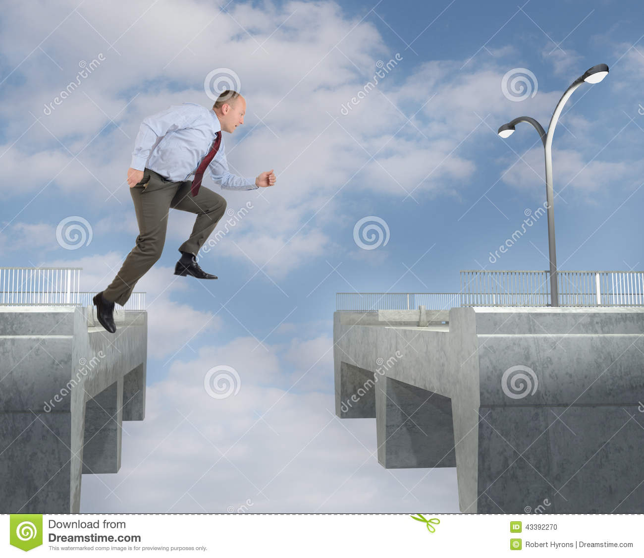 Solution to the problem stock photo image 43392270 for Jump the gap