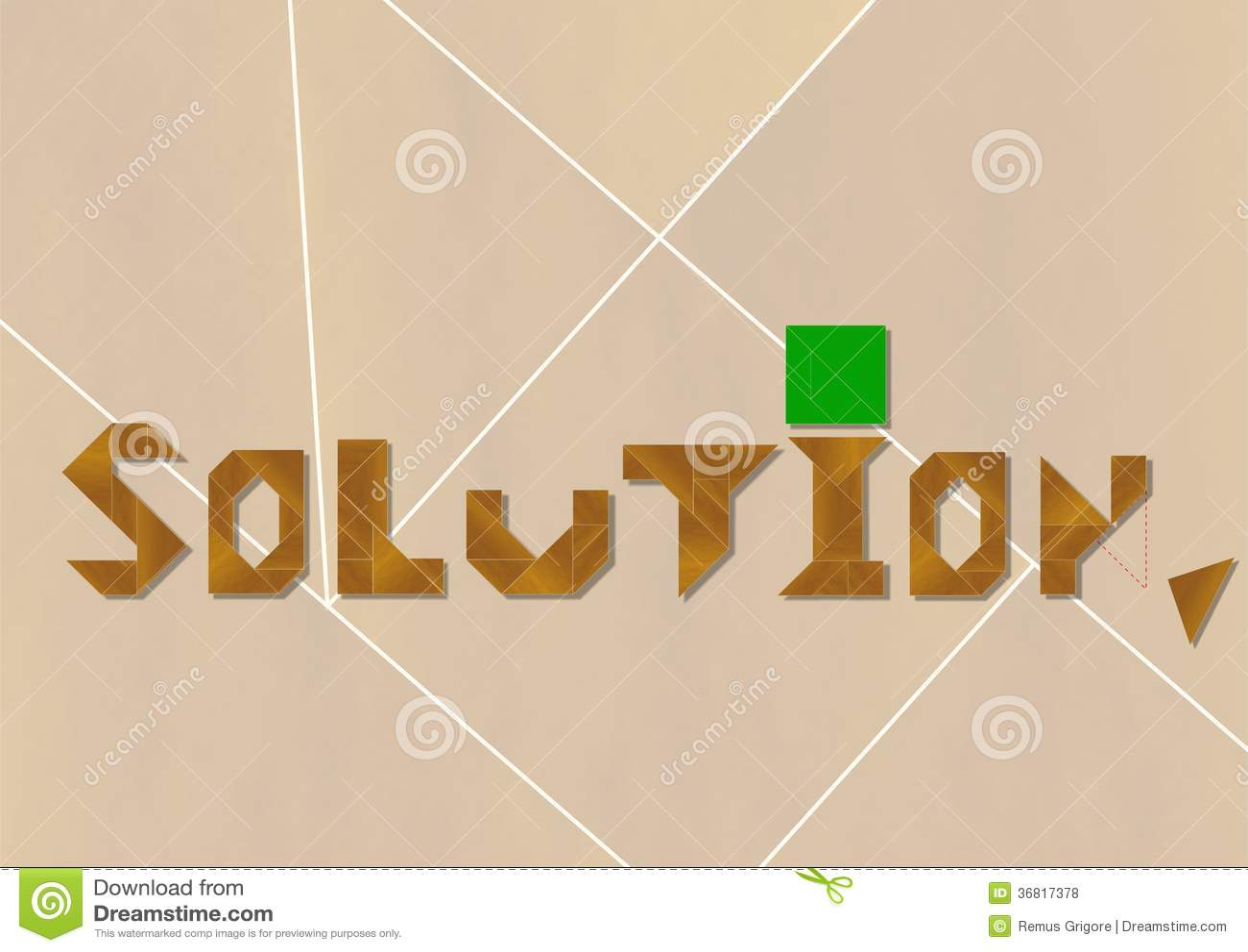 Solution - cdr format stock vector  Illustration of resolve - 36817378