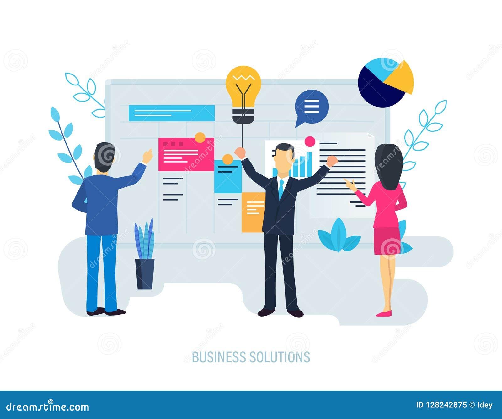 Solutions d affaires, système de représentation d augmentation, planification, indicateur financier d analyse