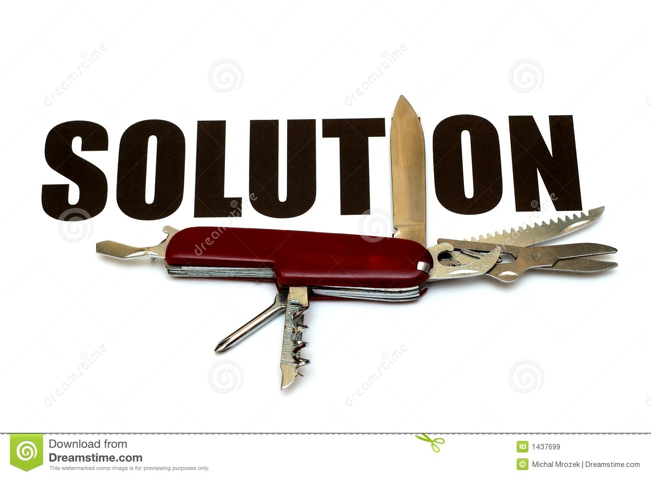 Solutions For Different Problems Conceptual Royalty Free