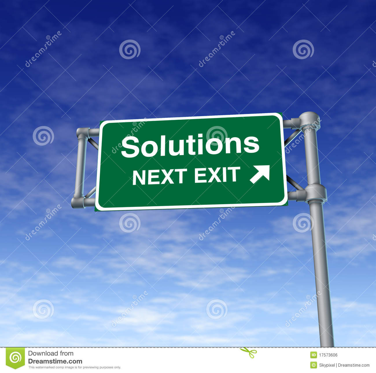 Solutions Freeway Exit Sign highway street symbol