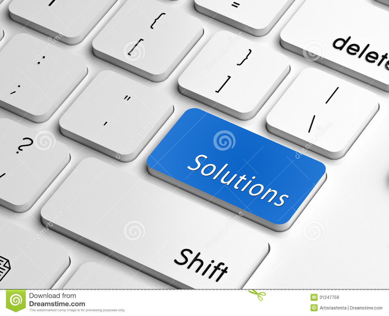 Technology Management Image: Solutions Stock Illustration. Illustration Of Press
