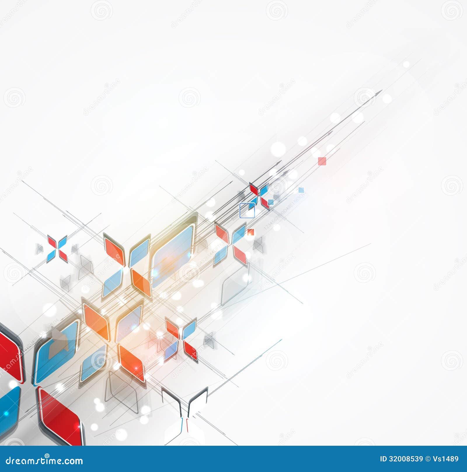Soluzione astratta di affari di tecnologie informatiche della freccia