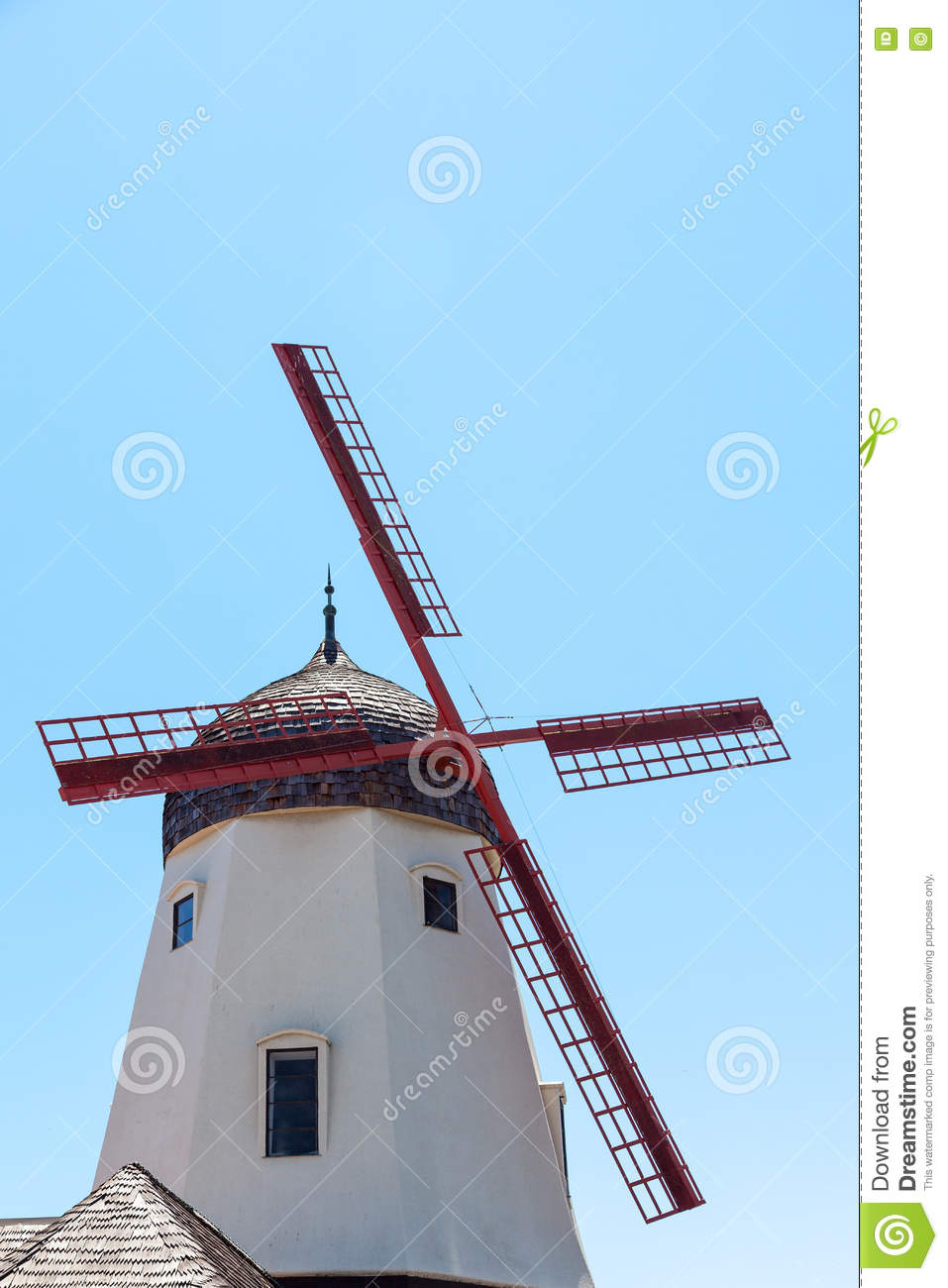 SOLVANG, CALIFORNIA/USA - AUGUST 9 : Windmill in Solvang California on August 9, 2011
