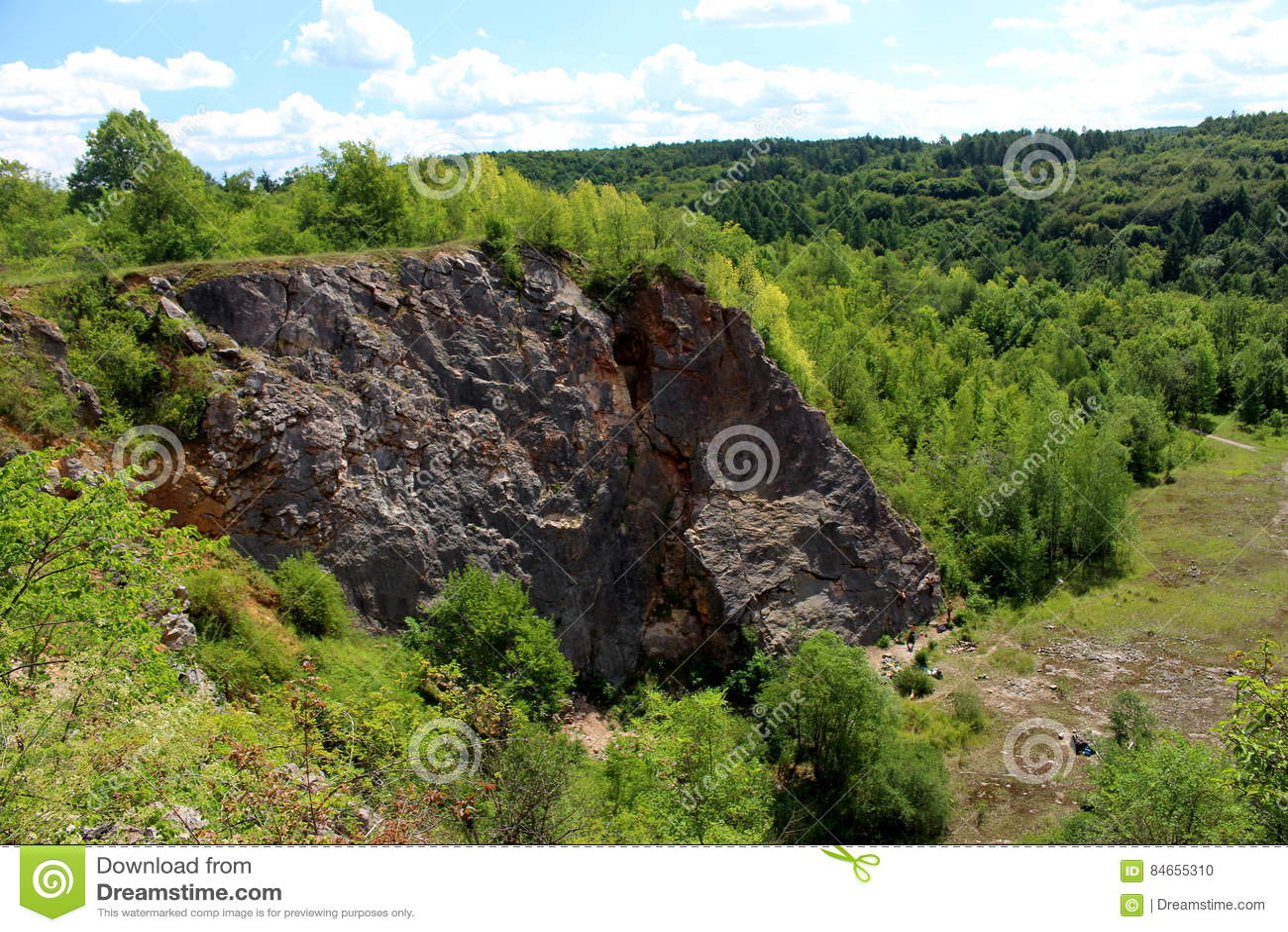Solvay`s Quarry Czech Republic Stock Photo - Image of