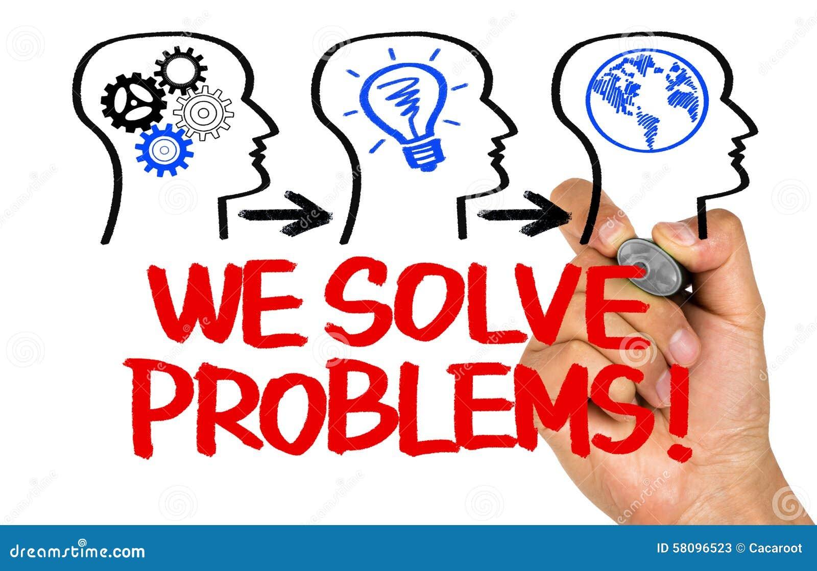 17b8ab5b7b967c We solve problems stock image. Image of creative