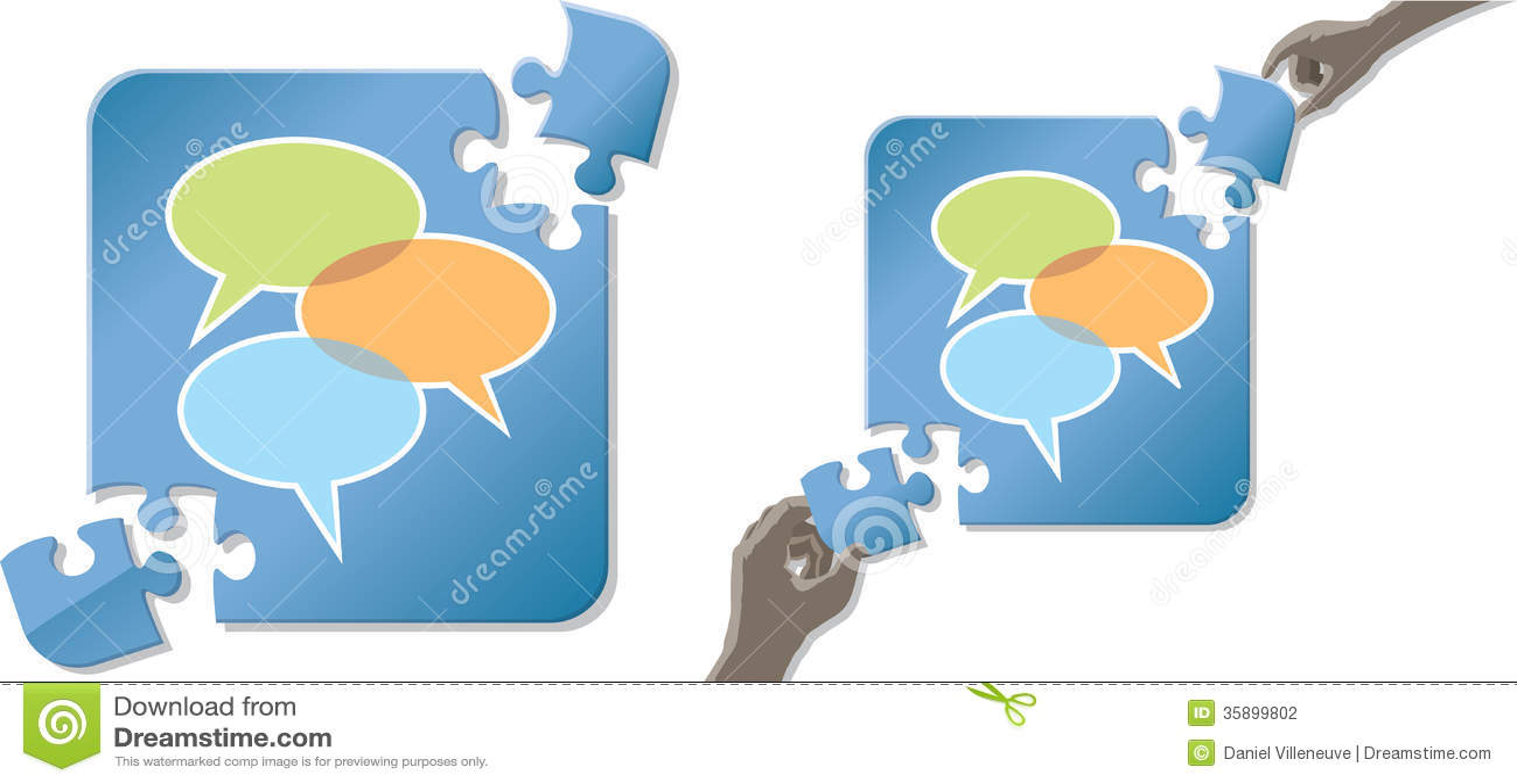 Solving Communication Problems Stock Vector - Illustration