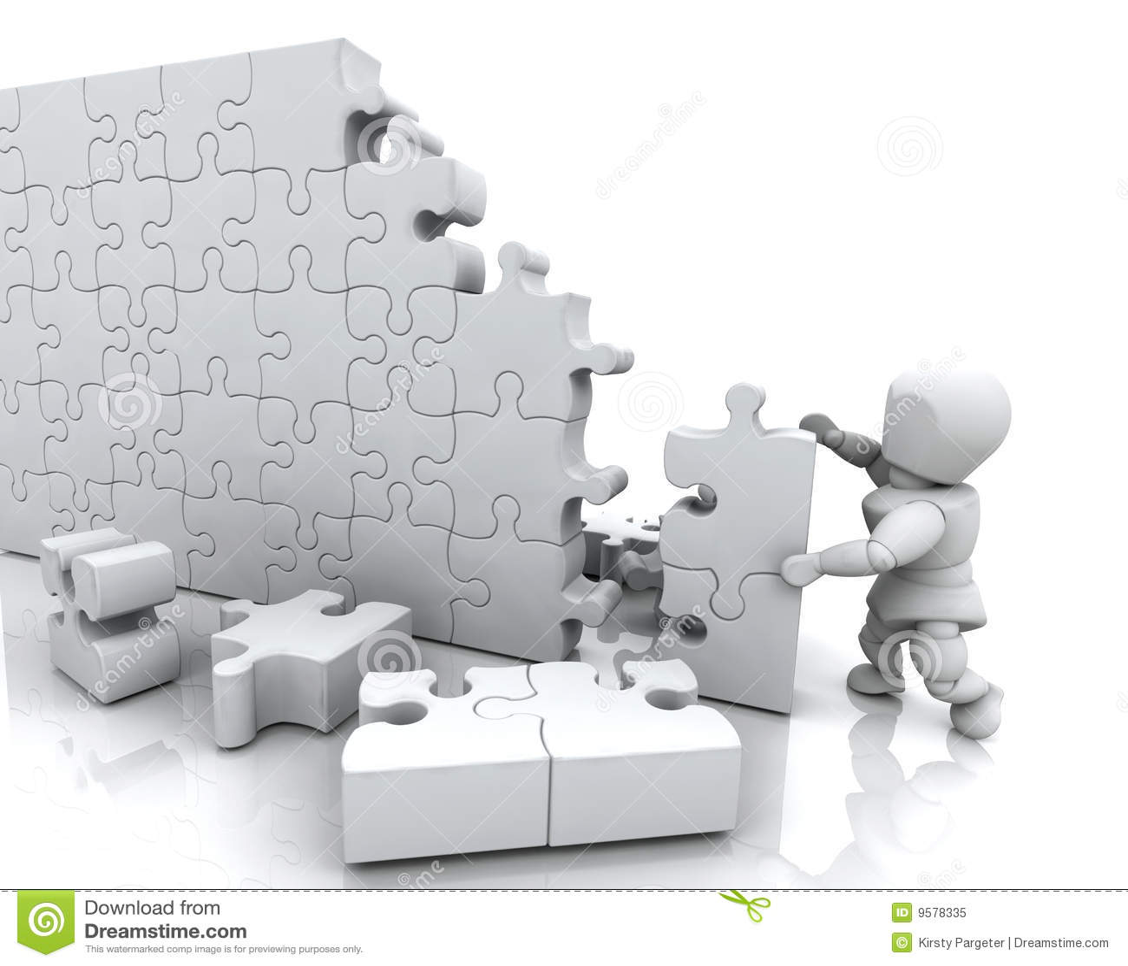 Solving Jigsaw Puzzle Royalty Free Stock Photo - Image ...