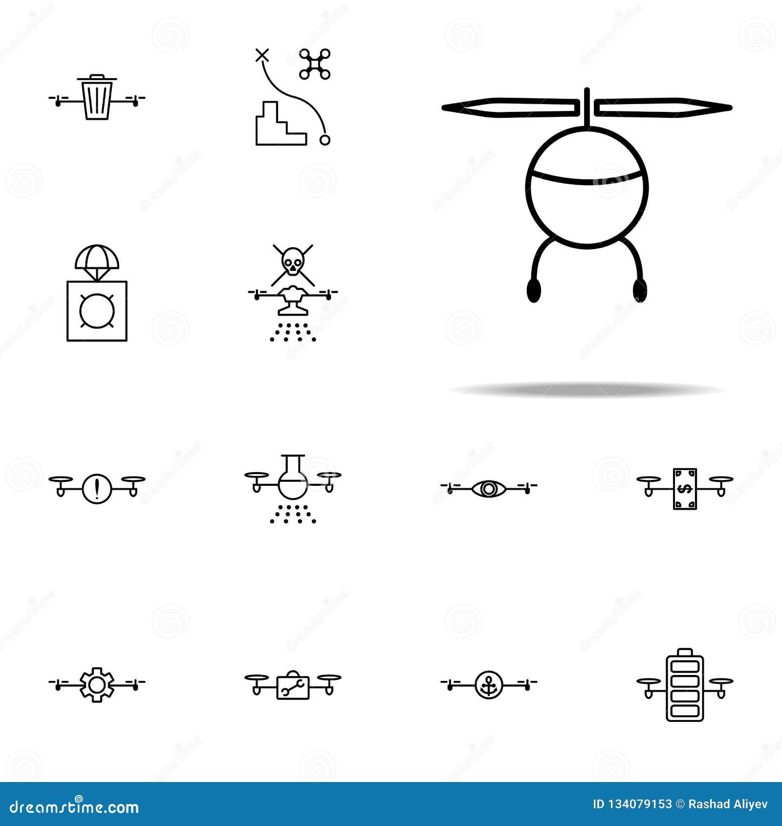 Som är kan planlägga den använda logotypen för logoen för elementhelikoptersymbolen Universell uppsättning för surrsymboler för r